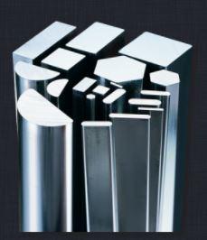 barres chromées acier